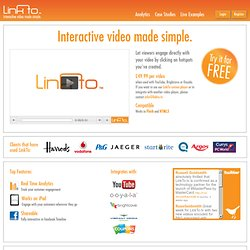 LinkTo.Tv - Make your videos interactive