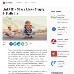 LinkXEE - Share Links Simply & Stylishly
