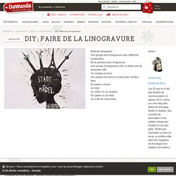 DIY: Faire de la linogravure - papier + scrapbooking sur DaWanda