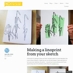 Making a linoprint from your sketch « thisisknockout