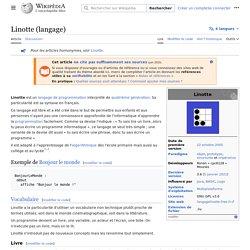 Linotte (langage)