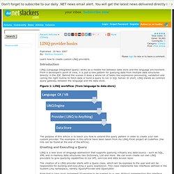 LINQ provider basics