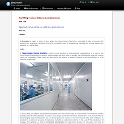 Everything you need to know about cleanrooms