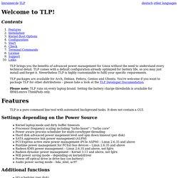 TLP – Linux Advanced Power Management