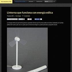 Linterna que funciona con energía eólica