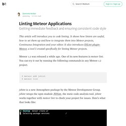 Linting Meteor Applications