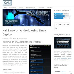 Kali Linux on Android using Linux Deploy