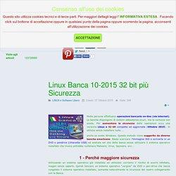 Linux Banca 10-2015 32 bit più Sicurezza