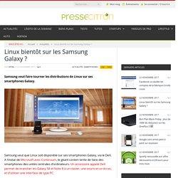 Linux bientôt sur les Samsung Galaxy ?