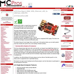 A10 Linux Board, HDMI, SATA, Ethernet, uSD, 2x USB