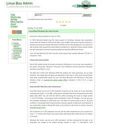 Linux Box Admin