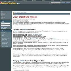 Linux Broadband Tweaks