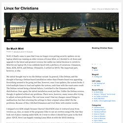 Linux for Christians | Linux – Free as in Salvation. Eph 2:8-9