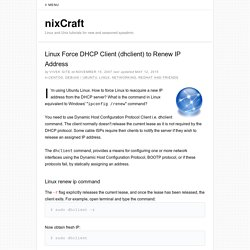 Linux Force DHCP client (dhclient) to renew ip address
