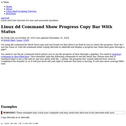 Linux dd Command Show Progress Copy Bar With Status