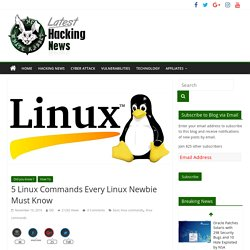 5 Linux Commands Every Linux Newbie Must Know