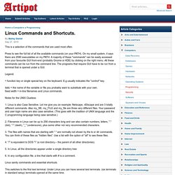 Linux Commands and Shortcuts