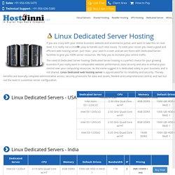 Managed Linux Dedicated Web Hosting plans: HostJinni