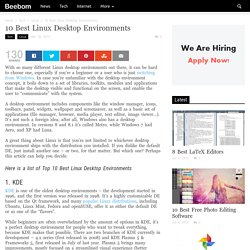 Top 10 Best Linux Desktop Environments (2015)