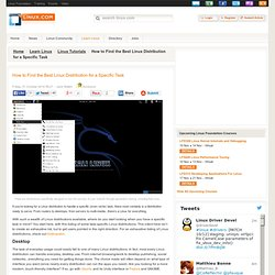 How to Find the Best Linux Distribution for a Specific Task