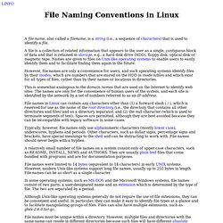 Linux filename guidelines