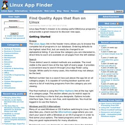Linux App Finder | Helping find the Linux apps you need