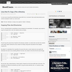 Linux How To: Copy a File or Directory