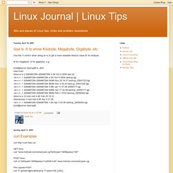 Linux Journal | Linux Tips