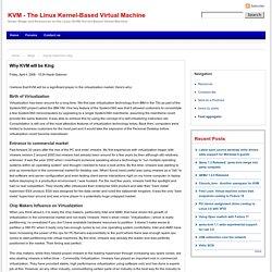 KVM - The Linux Kernel-Based Virtual Machine