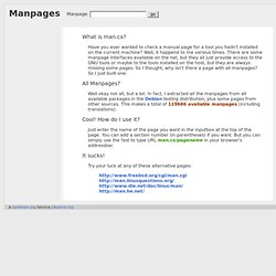 Linux Manpages Online - man.cx manual pages