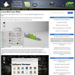 Linux Mint avec Mate