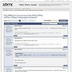 ASUS O!Play - TV HD Media Player - Page 2 - XBMC Community Forum