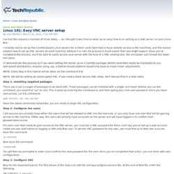 Linux 101: Easy VNC server setup