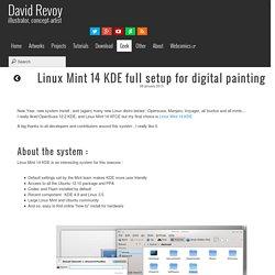 Linux Mint 14 KDE for painters