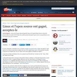 Linux et l'open source ont gagné, acceptez-le