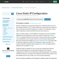 Linux Static IP Configuration - Linode Guides & Tutorials