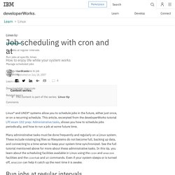 Linux tip: Job scheduling with cron and at
