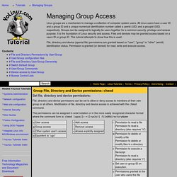 Linux Tutorial - Managing Group Access on Linux and UNIX