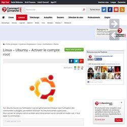 Linux – Ubuntu – Activer le compte root