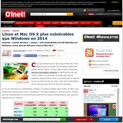 Linux et Mac OS X plus vulnérables que Windows en 2014