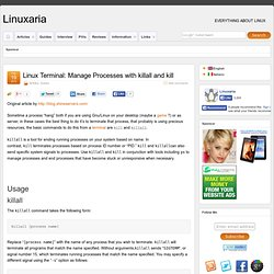Linux and Open source Linux Terminal: Manage Processes with killall and kill