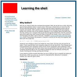 Learning the shell.