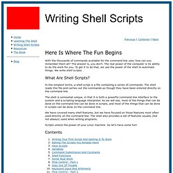 Writing shell scripts.