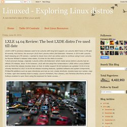 Linuxed - Exploring Linux distros: LXLE 14.04 Review: The best LXDE distro I've used till date
