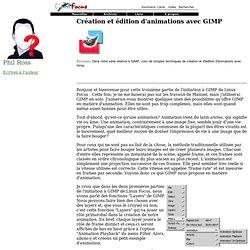 Juillet 1998: Création et édition d'animations avec GIMP