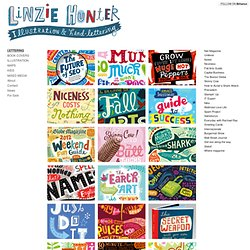Lettering Sketchbook : Linzie Hunter, Illustration &Hand Lettering