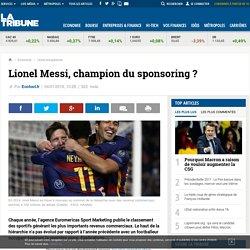 Lionel Messi, champion du sponsoring ?