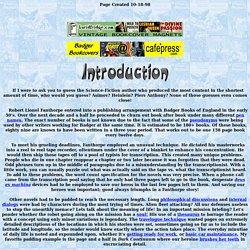 Lionel Fanthorpe Introduction Page
