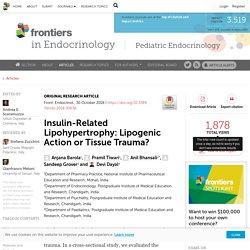 10/30/18- Insulin-Related Lipohypertrophy: Lipogenic Action or Tissue Trauma?_FULL