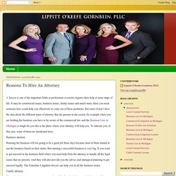 Lippitt O'Keefe Gornbein, PLLC: Reasons To Hire An Attorney